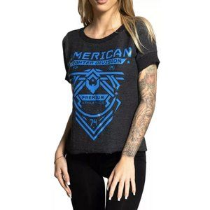 AMERICAN FIGHTER Womens T-Shirt ADDY Athletic Blac